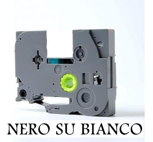 1005BTS 1000BTS 1000F 1005F vhbw Cassetta Nastro di Stampa 6mm Nero su Giallo qualit/à extra forte per etichettatrice Brother P-Touch 1000 1005